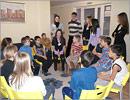Визит слушателей МАГУ в Санаторный дом детства. Открыть в новом окне [78 Kb]