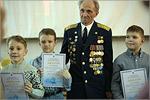 Призеров конкурса «Мир космоса» поздравляет ветеран А.А.Быков