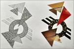 Работы обучающихся Архитетурной школы по дисциплине пластическое моделирование, композиция и черчение, преподаватель Е.И.Галиева