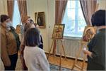 Обучающиеся студии на выставке японской художницы-иконописца Хироко Кодзуки