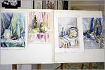 Выставка лучших работ Евразийской олимпиады по рисунку, живописи и композиции