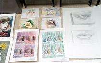 Работы обучающихся студии «Рисунок, живопись, дизайн», направление «Архитектура» и «Дизайн»