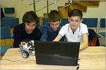 Команда  секции «Робототехника» ДЮТ «Прогресс» в составе: Ярослав Будков, Алексей Ряховский и Максим Дьяков