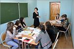 Занятие на курсах по подготовке к ЕГЭ по русскому языку для молодых мам, 2015г.