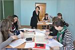 Занятие на курсах по подготовке к ЕГЭ по русскому языку для молодых мам, 2015г. Применение знаний на практике, работа в группах