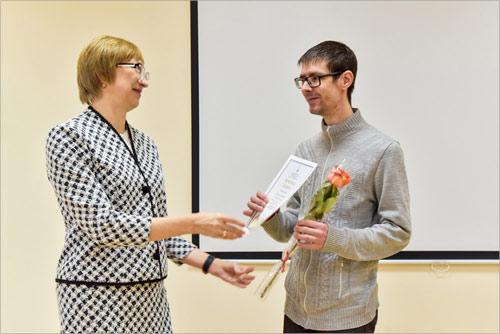 Награждение Антона Пархамовича