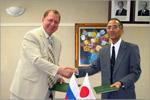 Подписание договора о сотрудничестве, Япония, 2006. Открыть в новом окне [78Kb]