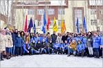 Открытие памятного знака студенческих отрядов Оренбуржья, февраль 2018 г.