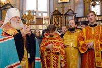 Молебен в домовой церкви Св. мученицы Татианы. Открыть в новом окне [92,4 Kb]