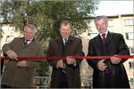 А. Ковалев, В. Ковалевский, Н. Булаев. Торжественное разрезание ленточки. Открыть в новом окне [79 Kb]