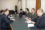 Встреча с ректором ОГУ В.П.Ковалевским. Открыть в новом окне [77,8Kb]