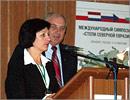 Татьяна Герасименко, декан ГГФ, и Виталий Куксанов, завкафедрой ЭиП. Открыть в новом окне [83 Kb]