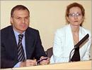 Александр Коган и Наталья Зинюхина, директор МАГУ. Открыть в новом окне [60 Kb]