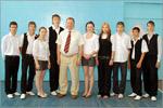 В. Ковалевский с воспитанниками детского дома. Открыть в новом окне [85 Kb]