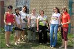 Студенты и сотрудники метеостанции перед микроклиматическими наблюдениями. Открыть в новом окне [88 Kb]