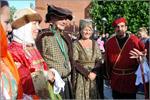 Мэр города Хорсенса (второй слева) приветствует делегацию ОГУ. Открыть в новом окне [91 Kb]