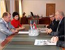 Встреча ректора с членами датской делегации. Открыть в новом окне [75Kb]