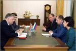 Встреча Пера Карлсена с ректором ОГУ. Открыть в новом окне [90Kb]