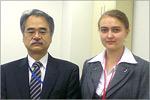С генеральным директором Японо-росийского центра молодежных обменов г-ном Имамурой. Открыть в новом окне [76 Kb]
