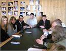 Встреча слушателей МАГУ с П. Рыковым и актерами драмтеатра. Открыть в новом окне [84 Kb]