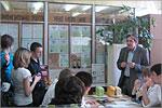 Встреча с завкафедрой пищевой биотехнологии Валерием Поповым. Открыть в новом окне [71 Kb]