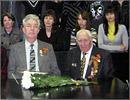 Встреча с ветераном ВОВ Алексеем Леонтьевым. Открыть в новом окне [89 Kb]