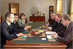 Встреча ректора ОГУ с представителями группы компаний 'Вымпел'. Открыть в новом окне [77 Kb]