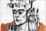 А.Губская 'Портрет Жени в стиле Эгона Шиле'. Открыть в новом окне [61 Kb]