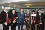 Талантливая молодежь ОГУ с ректором В. Ковалевским. Открыть в новом окне [76Kb]