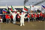 Встреча почетных гостей на железнодорожном вокзале Оренбурга. Открыть в новом окне [79Kb]