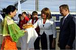 Встреча почетных гостей на железнодорожном вокзале Оренбурга. Открыть в новом окне [77Kb]