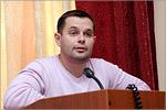 Василий Трофимов, председатель студенческого пофкома ОГУ. Открыть в новом окне [50 Kb]