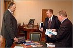 Встреча с делегацией Уральского госуниверситета путей сообщения. Открыть в новом окне [77 Kb]