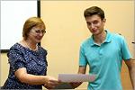 Вручение сертификатов о прохождении обучения по программному продукту Autodesk. Открыть в новом окне [77 Kb]