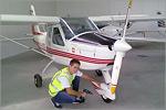 Сергей Васильков на практике в авиакомпании 'ЧелАвиа' в Челябинске. Открыть в новом окне [75 Kb]