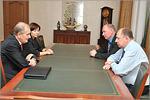 Встреча с ректором ОГУ Владимиром Ковалевским. Открыть в новом окне [62 Kb]