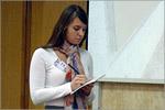 Нина Куликова на конкурсе переводчиков в ЧелГУ. Открыть в новом окне [48 Kb]