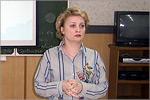 Ирина Переходько на заседании МО учителей французского языка. Открыть в новом окне [72 Kb]
