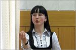 Оксана Хрущева, старший преподаватель кафедры АФМПАЯ. Открыть в новом окне [74Kb]