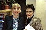Евгения Платова и Ольга Осиянова. Открыть в новом окне [73 Kb]