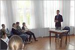 Встреча Петра Якимова со школьниками. Открыть в новом окне [79 Kb]