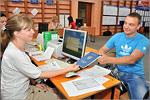 Первый день работы приемной комиссии ОГУ. Открыть в новом окне [77 Kb]