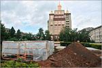 Подготовительные работы по установке памятника П.И.Рычкову. Открыть в новом окне [76 Kb]