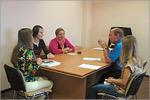 Встреча Сергея Летуты с преподавателем из Франции Элен Моске. Открыть в новом окне [77 Kb]