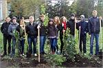 Посадка деревьев волонтерами. Открыть в новом окне [83 Kb]
