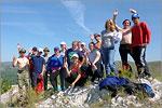 Студенты ОГУ на вершине Бикташевского рифа. Открыть в новом окне [75 Kb]