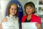 Алина Халикова и Жанна Бикситова. Открыть в новом окне [78 Kb]