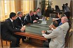 Встреча В.П.Ковалевского с делегацией Генерального консульства ФРГ. Открыть в новом окне [83 Kb]