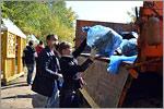 Уборка мусора на территории прибрежной зоны Урала. Открыть в новом окне [78 Kb]
