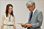 Юлия Строкова, студентка ОГУ, и Такаюки Эбата. Открыть в новом окне [77 Kb]